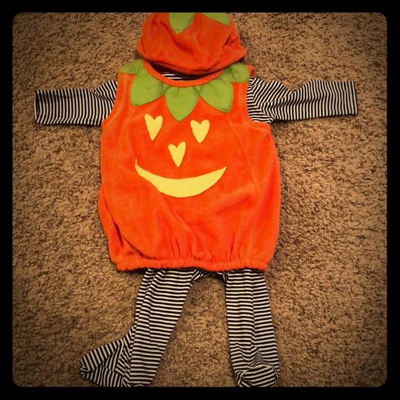 infant pumpkin halloween costume hat bodysuit